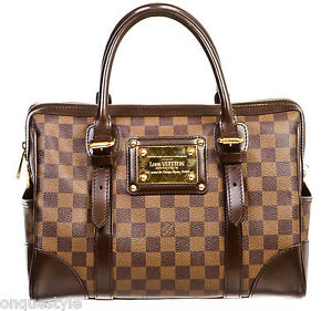 Louis Vuitton Brown Damier Ebene Berkeley Handbag | eBay