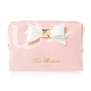 Ted Baker Leda Large Bow Wash Bag - Baby Pink