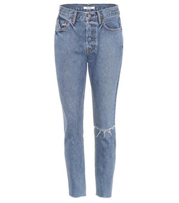 Grlfrnd Karolina high-waisted jeans in blue