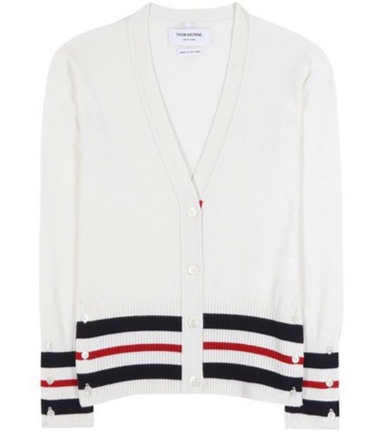 Thom Browne cardigan cardigan white sweater