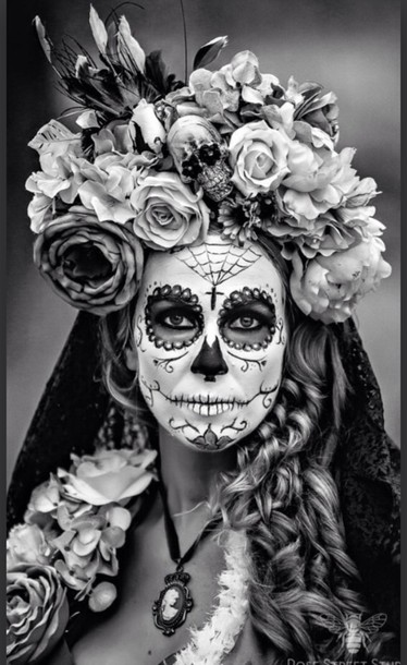 Make-up: day of the dead makeup, halloween costume, halloween, dia ...