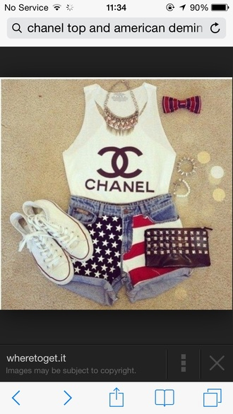 top chanel white crop top chanel white crop top white tank