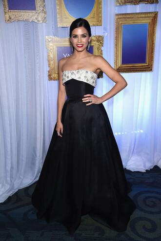 dress gown strapless jenna dewan prom dress