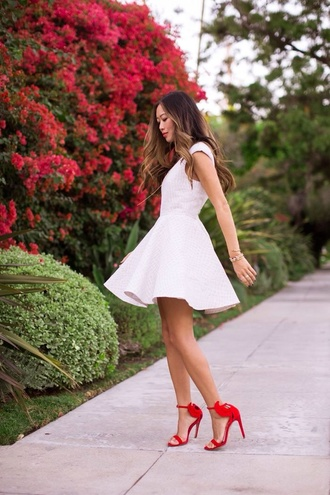 dress shoes sandals high heel sandals red sandals red high heel sandals summer dress summer outfits white dress shirt dress song of style blogger top blogger lifestyle