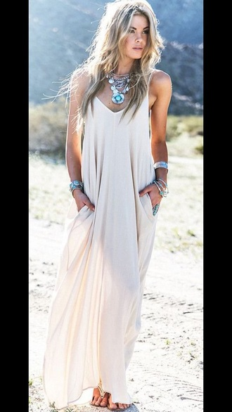 dress beige tan maxi dress