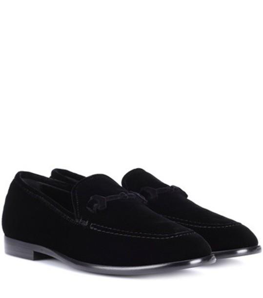 Jimmy Choo loafers velvet black shoes
