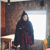 dress,stylenanda,plaid,checkered,black,red