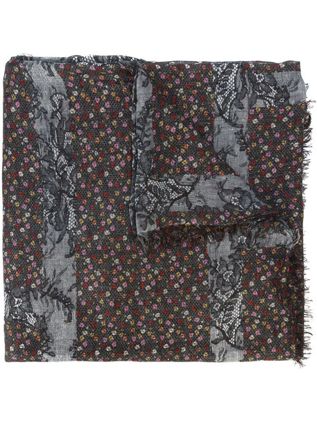 faliero sarti women scarf black silk