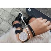 hair accessory,bracelets,chanel,black,acessory,skater,girly,beautiful,classy,white