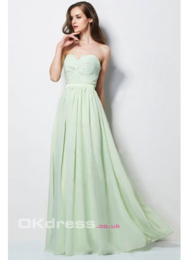 dress light green dress for prom and wedding party sweetheart dress long prom dress