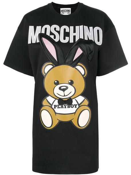 Moschino dress shirt dress t-shirt dress women cotton black