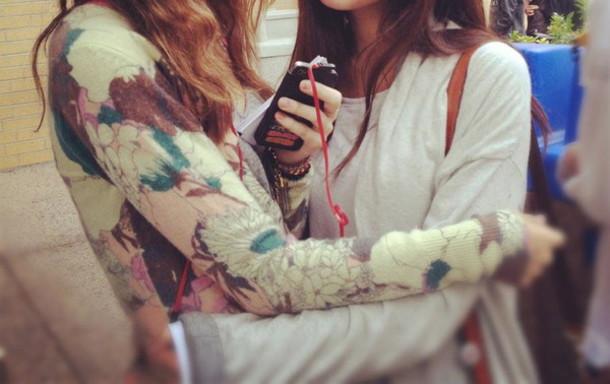 floral cardigan sweater