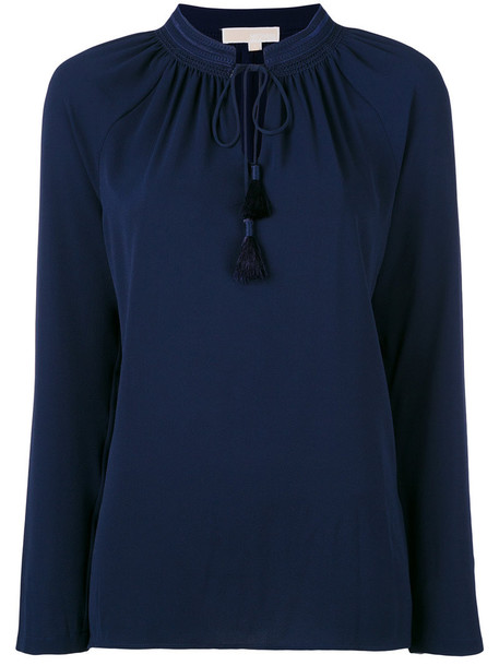 MICHAEL Michael Kors blouse women spandex blue top
