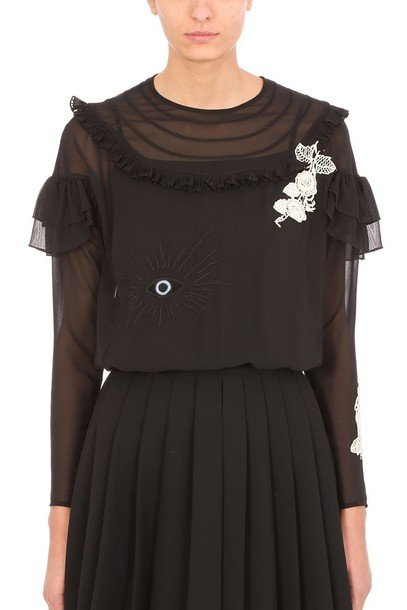 RED VALENTINO blouse black top