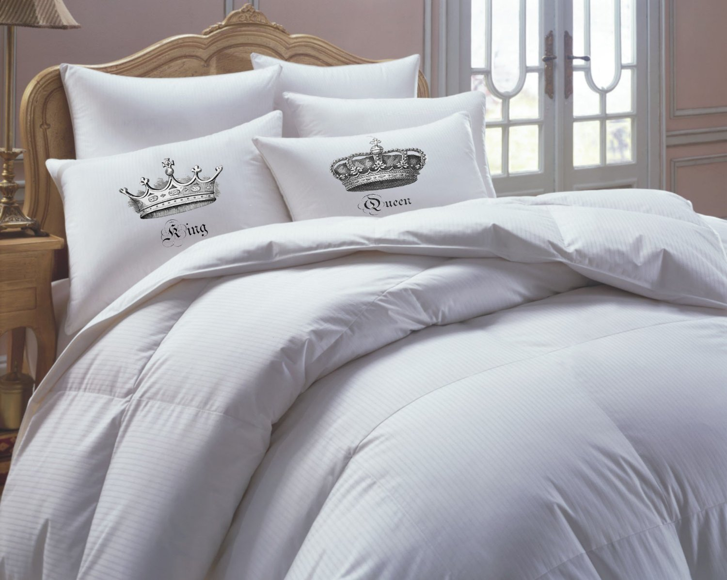Valentine's gift, couples gift, his hers pillowcase set, couples pillowcase set, king and queen pillowcase set