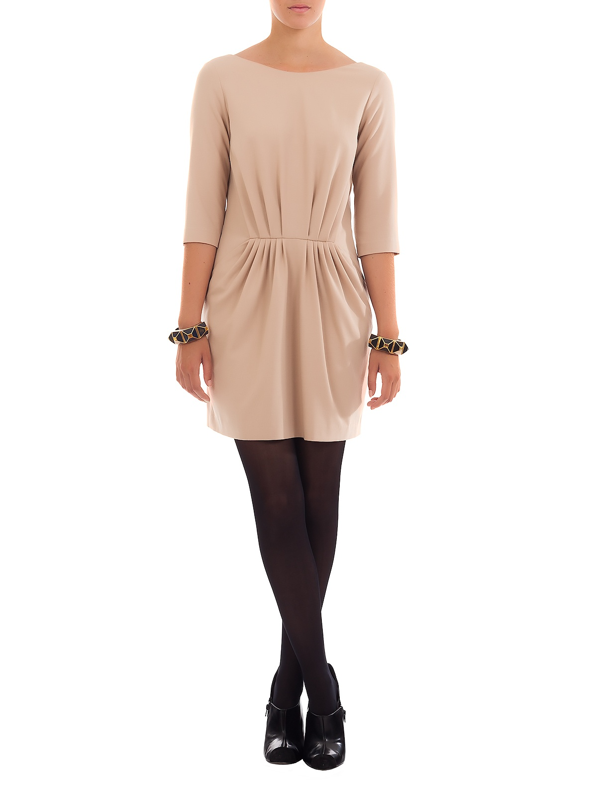 SYMPHONY BEIGE DRESS | GIRISSIMA.COM - Collectible fashion to love and to last