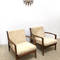 60s original vintage mid century pair of armchairs in afromosia by toothill