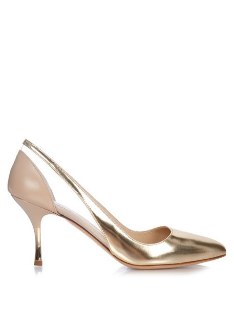 metallic pumps leather rose gold rose gold shoes