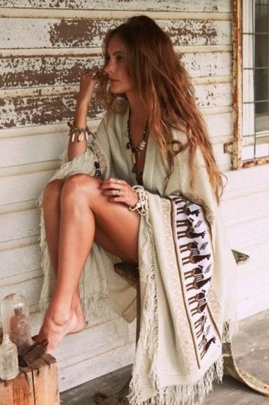 poncho boho native american hippie cardigan hipster boho\