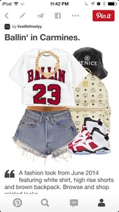 t-shirt,ballin 23 sexy cute dope,shorts
