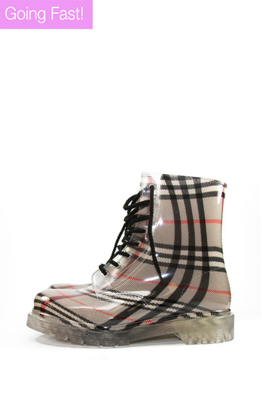 Plaid Rainboots | Obsezz