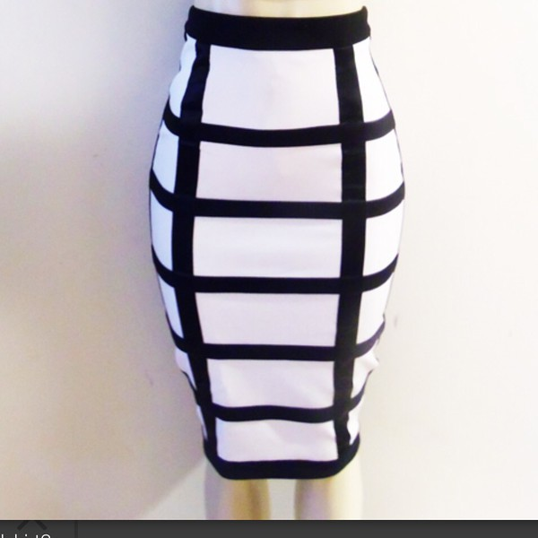 skirt black and white skirt black and white grid skirtt