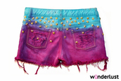 shorts,stars,ombre,dip dyed