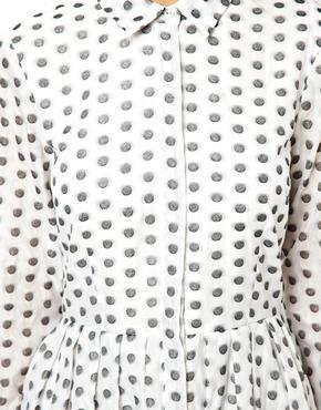 ASOS | ASOS - Robe chemise en jacquard à motif pois chez ASOS