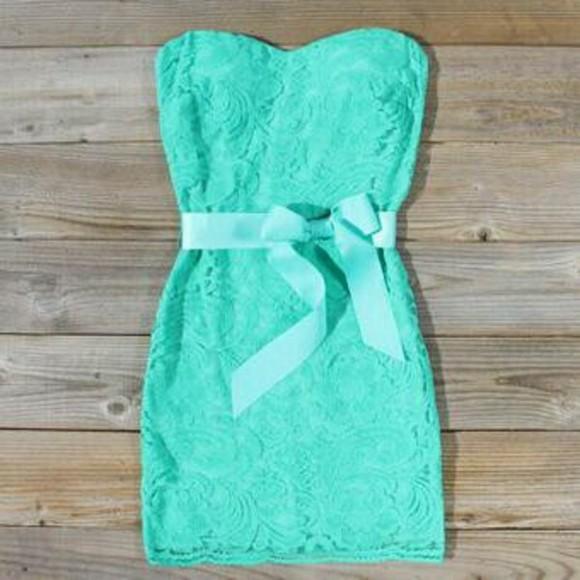 mint dress amazing mint lace dress bows blue blue dress tiffany blue bustier dress strapless bows lace