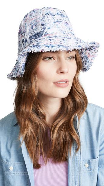 Eugenia Kim Toby Hat in white / multi