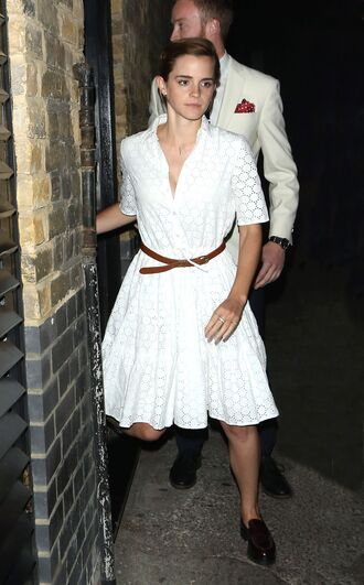 Emma Watson White Mini Dress