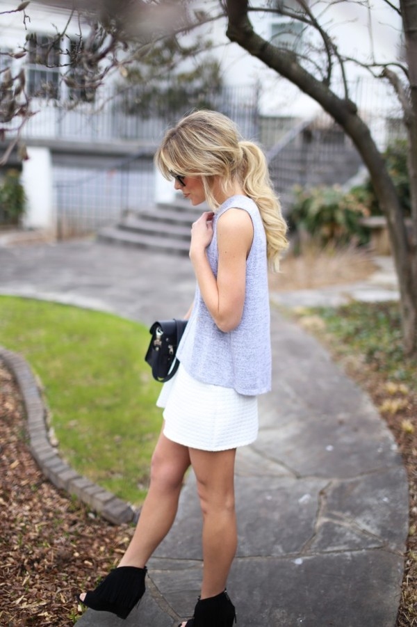 happily grey jacket t-shirt skirt shoes bag sunglasses