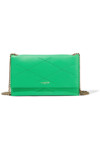 quilted bag shoulder bag leather green