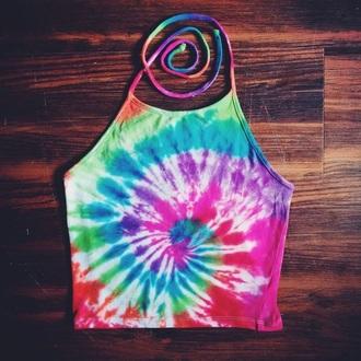 shirt tie dye crop tops