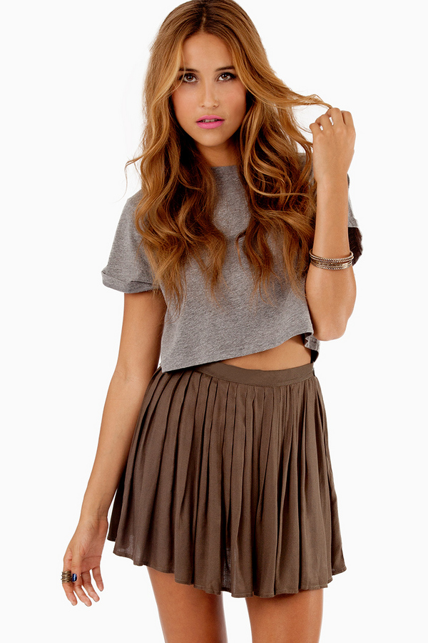 Chilton Pleated Skirt - Tobi