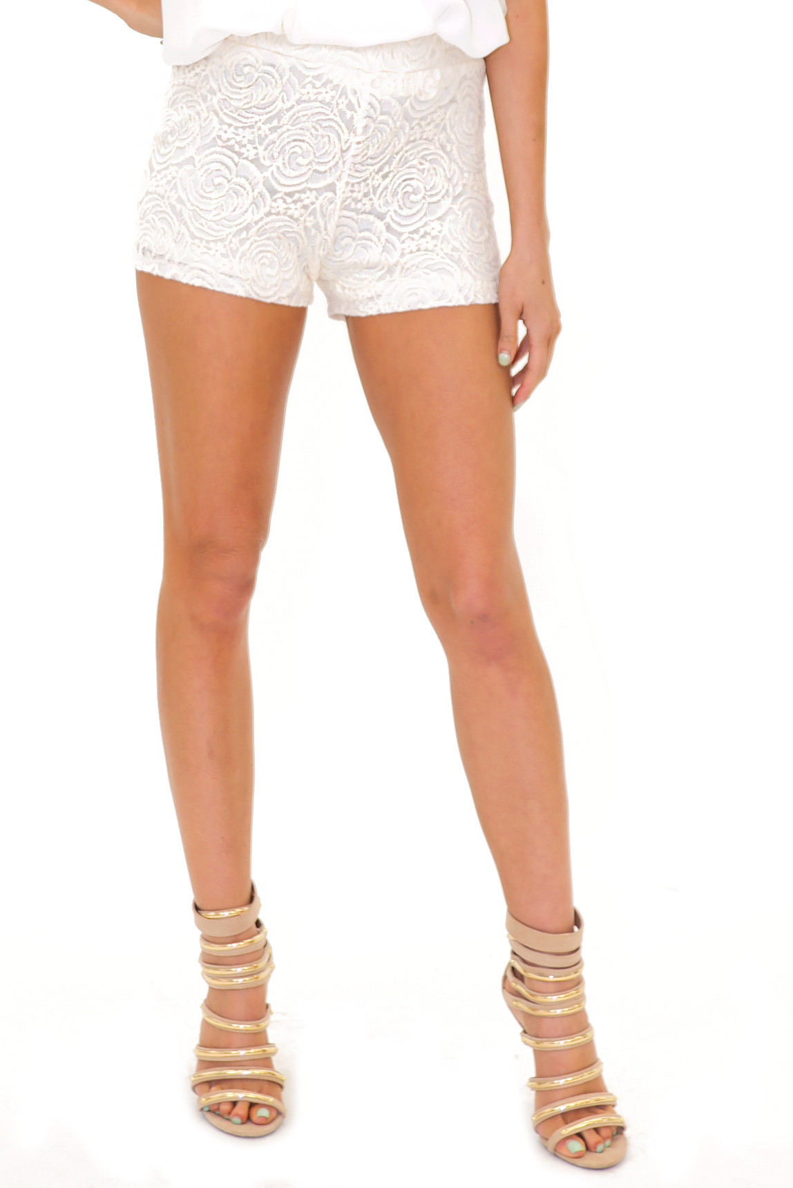 BELL FLOWER LACE SHORTS | Haute & Rebellious