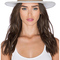 Lack of color the mack hat in light speckled grey & nude leather from revolve.com