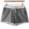 Grey drawstring pocket straight shorts