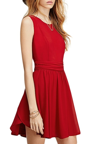 dress red red dress casual casual dress sleeveless sleeveless dress mini dress flare sketer dress skater dress summer summer dress date outfit zaful bersun