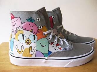 shoes adventure time adventure time shoes alternative vans high top sneakers