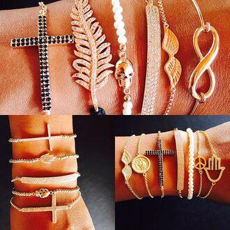 jewels nisainbali nisahuber24 jewelry bracelets hamsa stacked bracelets arm candy gold silver gold bracelet silver bracelet cross infinity hamsa bracelet