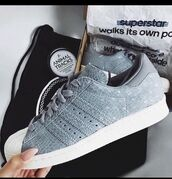 shoes,grey sneakers,sneakers,adidas,adidas superstars,grunge,girly,hipster,blue,fashion,style,model,beautiful,girl,summer,winter outfits,hippie,chic,superstar,grey,snake,animal,adidas shoes,adidas originals,grey shoes,stylish