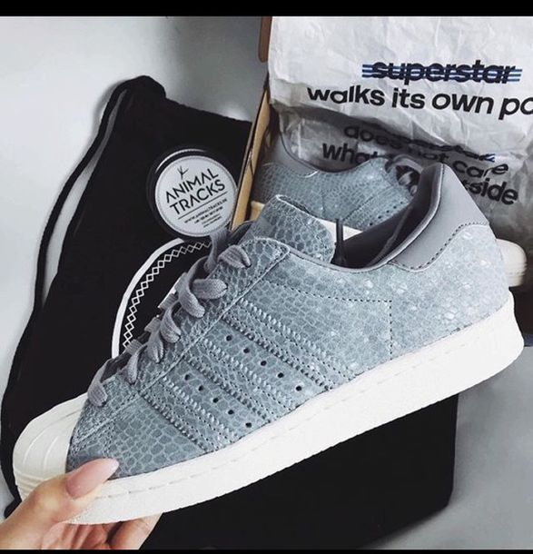 shoes grey sneakers sneakers adidas adidas superstars grunge girly hipster blue fashion style model beautiful girl summer winter outfits hippie chic superstar grey snake animal adidas shoes adidas originals grey shoes stylish