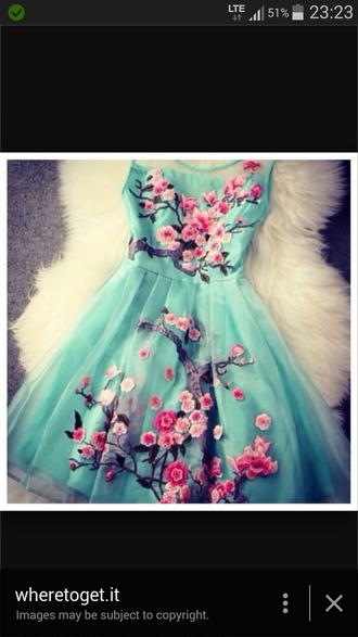 dress pastel blue dress floral floral dress