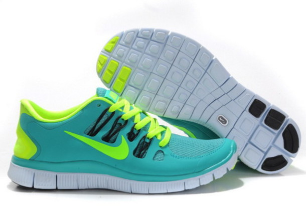 05a681a6f807 shoes nike free 5.0 + womens apple fluorescent green running shoes uk  price  £48.49