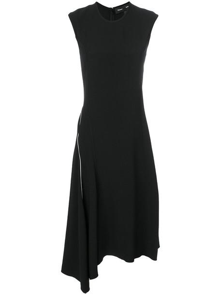 dress asymmetrical women black