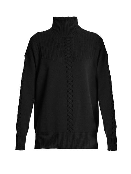 Barrie sweater high black