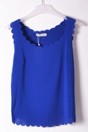Scallop sleeveless semi