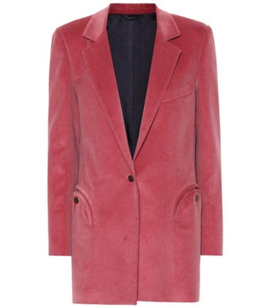 Blazé Milano Timeless corduroy blazer in pink