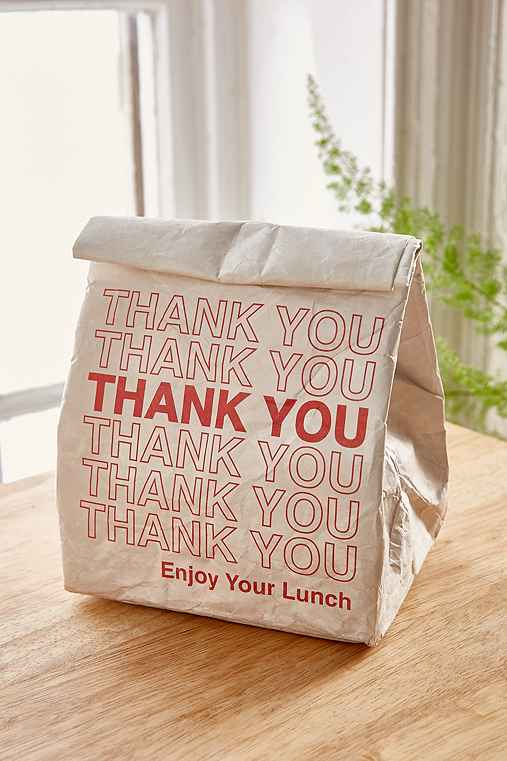 UO Souvenir Thank You Lunch Bag - Urban Outfitters